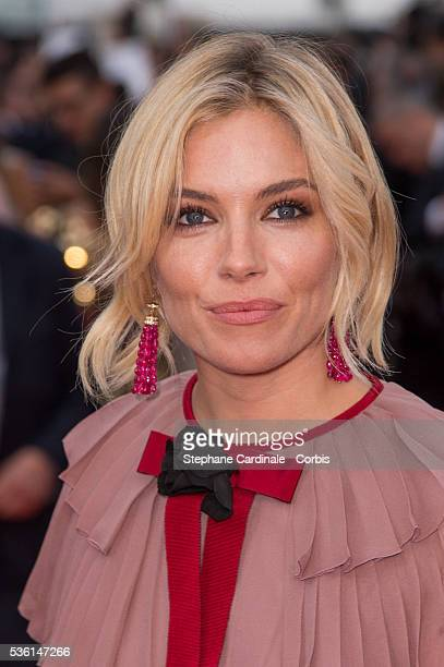Sienna Miller attends the 'Macbeth' premiere during the 68th annual Cannes Film Festival on May 23 2015