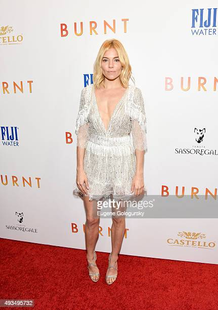 Sienna Miller attends The New York Premiere Of BURNT Presented By The Weinstein Company And FIJI Water at MOMA on October 20 2015 in New York City
