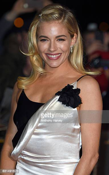 Sienna Miller attends the premiere of 'Live By Night' on January 11 2017 in London United Kingdom