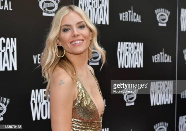"""Sienna Miller attends the premiere of Roadside Attraction's """"American Woman"""" at ArcLight Hollywood on June 05, 2019 in Hollywood, California."""