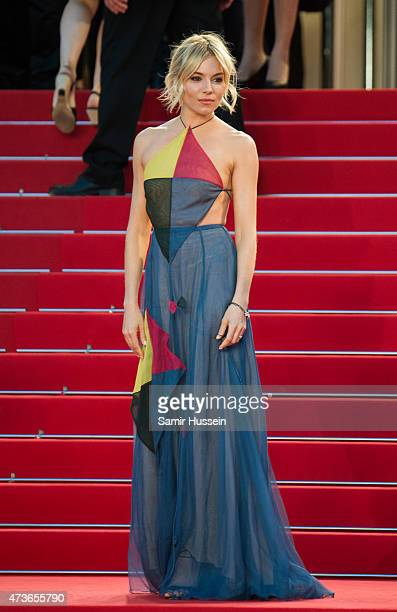 """Sienna Miller attends """"The Sea Of Trees"""" Premiere during the 68th annual Cannes Film Festival on May 16, 2015 in Cannes, France."""