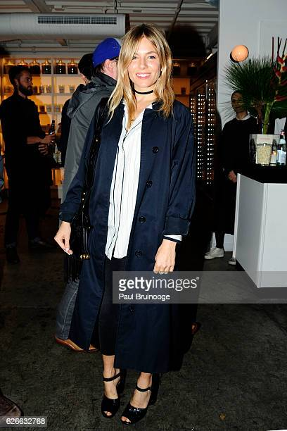 Sienna Miller attends the Spike Jonze The Cinema Society Host a Screening of Paramount Pictures' Arrival at Metrograph on November 29 2016 in New...