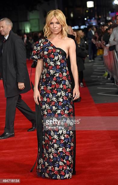 Sienna Miller attends the UK Film Premiere of 'Burnt' at Vue West End on October 28, 2015 in London, England.