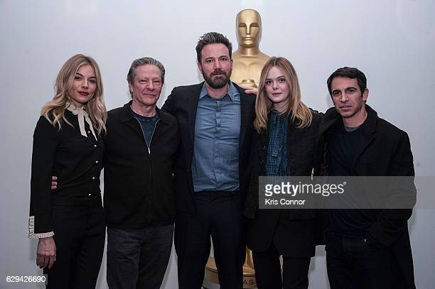 Sienna Miller Chris Cooper Ben Affleck Elle Fanning and Chris Messina attends an official academy screening of LIVE BY NIGHT hosted by the The...