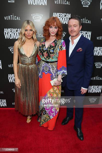 "Sienna Miller, Christina Hendricks and Jake Scott attend Premiere Of Roadside Attraction's ""American Woman"" at ArcLight Hollywood on June 05, 2019 in..."