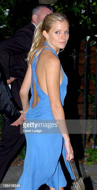 Sienna Miller during Sir David Frost Summer Party Arrivals at Carlisle Square in London Great Britain
