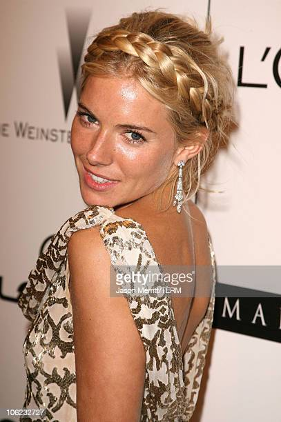 Sienna Miller during The Weinstein Co Golden Globe After Party at The Beverly Hilton Hotel in Beverly Hills California United States