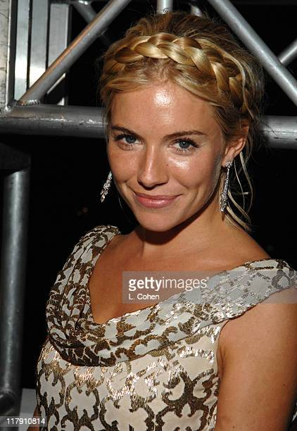 Sienna Miller during The Weinstein Company's 2007 Golden Globes After Party Inside at Trader Vic's in Beverly Hills California United States