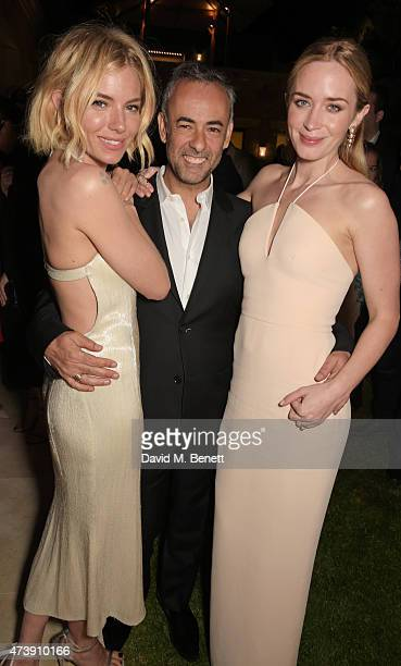 Sienna Miller, Francisco Costa, Women's Creative Director of Calvin Klein Collection, and Emily Blunt attend as The IFP, Calvin Klein Collection &...