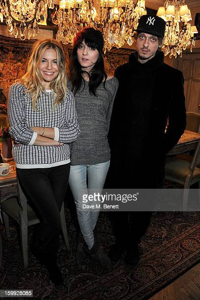 Sienna Miller Irina Lazareanu and Keir Knight attend afternoon tea hosted by Savannah Miller to celebrate the launch of the Savannah Spring/Summer...