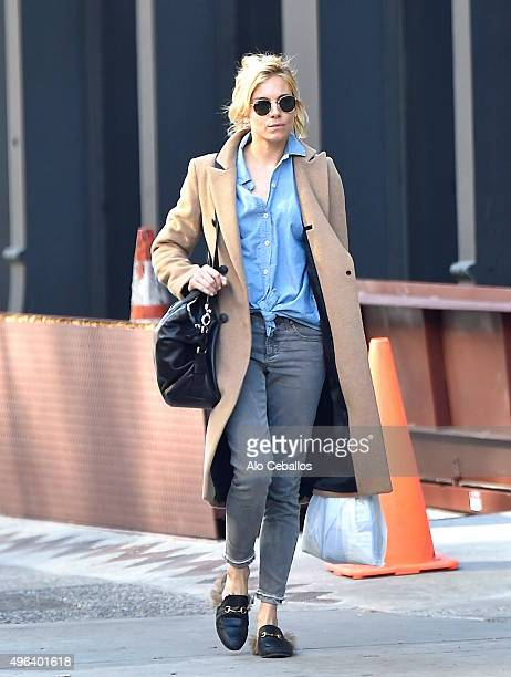 Sienna Miller is seen in Soho on November 9 2015 in New York City