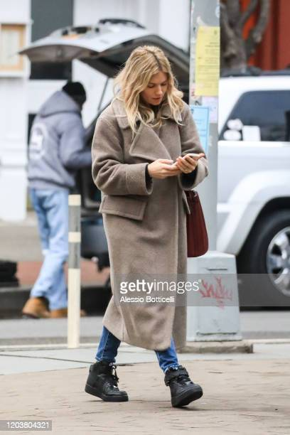 Sienna Miller is seen in West Village on February 03, 2020 in New York City.