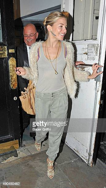 Sienna Miller is seen leaving the Theatre Royal Haymarket on March 23 2011 in London United Kingdom