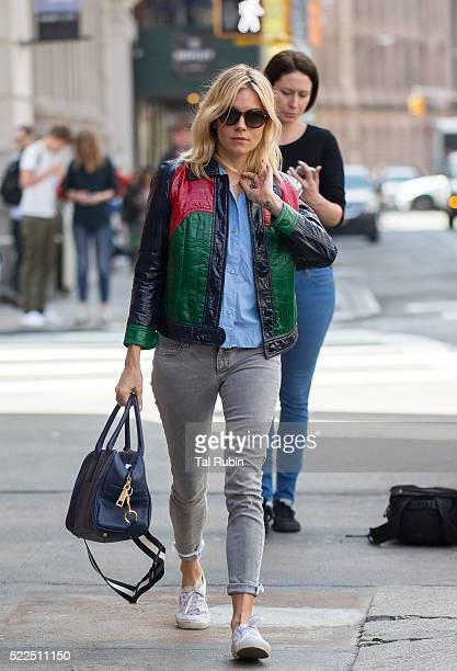 Sienna Miller is seen on April 19 2016 in New York City
