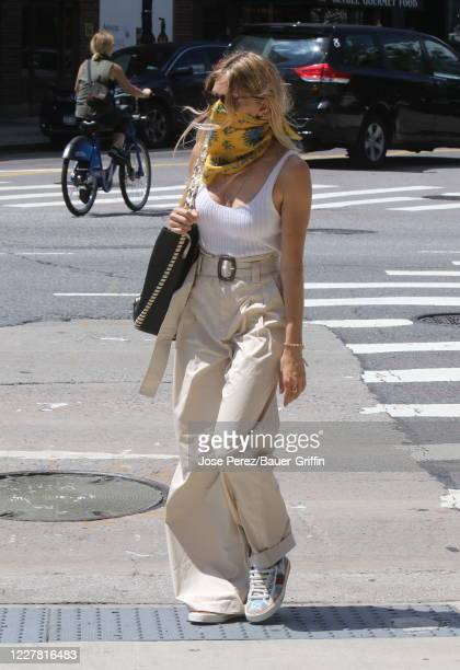 Sienna Miller is seen on July 28, 2020 in New York City.