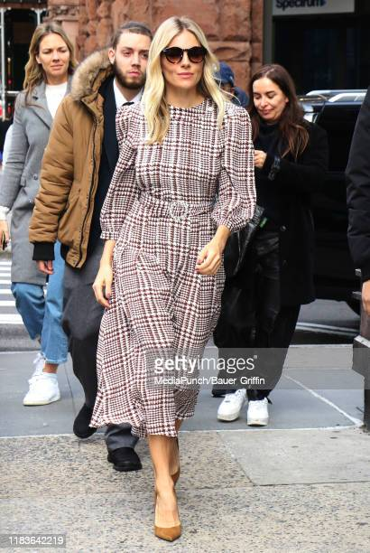 Sienna Miller is seen on November 20, 2019 in New York City.