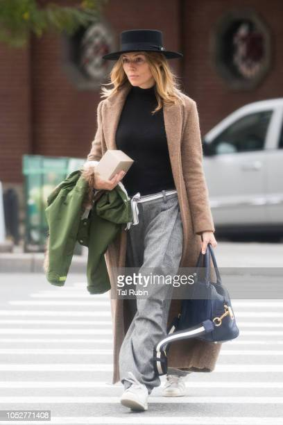 Sienna Miller is seen on October 22 2018 in New York City