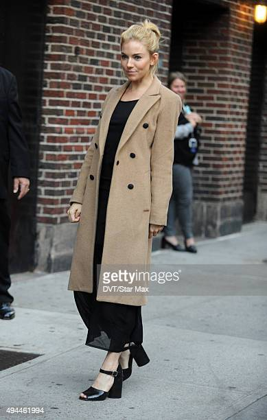 Sienna Miller is seen on October 26 2015 in New York City