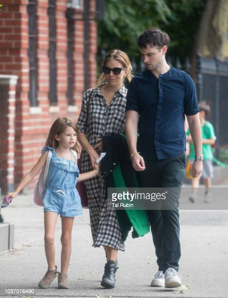 Sienna Miller is seen on September 20 2018 in New York City