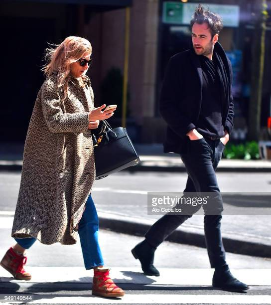 Sienna Miller is seen with an unknown man on April 20 2018 in New York City