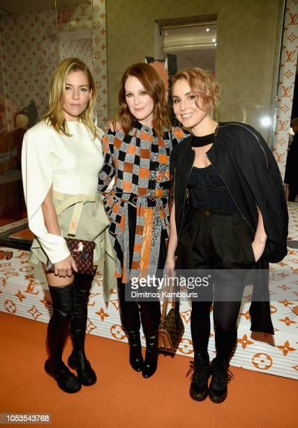 Sienna Miller Julianne Moore and Noomi Rapace attend the Louis Vuitton X Grace Coddington Event on October 25 2018 in New York City