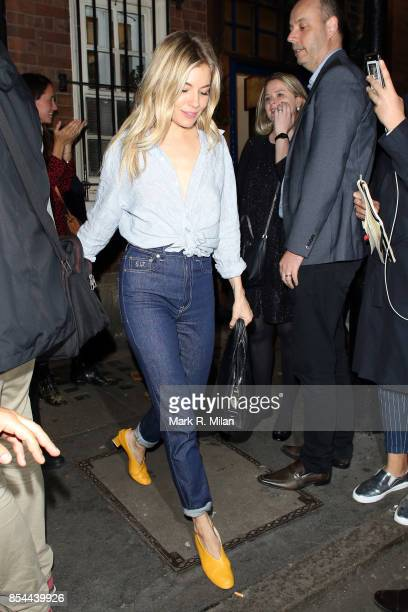 Sienna Miller leaving the Apollo theatre on September 26 2017 in London England
