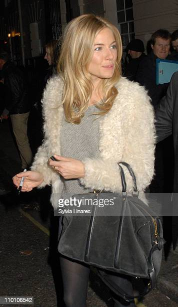 Sienna Miller leaving The Royal Haymarket Theatre on March 14 2011 in London England
