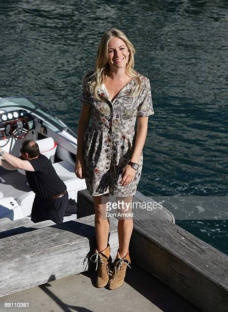 Sienna Miller poses during a press call for G.I Joe The Rise of The Cobra at Simmer On The Bay on July 20, 2009 in Sydney, Australia.
