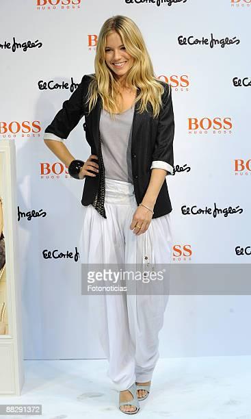 Sienna Miller presents Boss Orange fragrance at El Corte Ingles store Castellana street on June 5 2009 in Madrid Spain