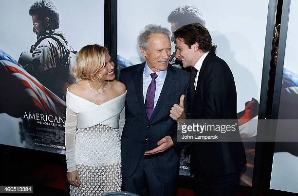 Sienna Miller Producer and Director Clint Eastwood and Bradley Cooper attend 'American Sniper' New York Premiere at Frederick P Rose Hall Jazz at...