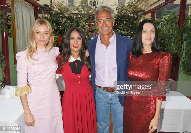 Sienna Miller Salma Hayek Dr Mitch Besser founder of mothers2mothers and Susie Cave attend the mothers2mothers Host Committee Breakfast at Mark's...