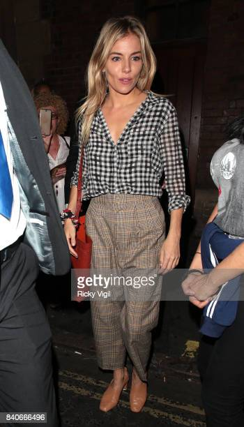 Sienna Miller seen at J Sheekey after leaving Apollo Theatre on August 29 2017 in London England