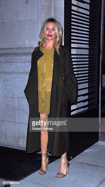 Sienna Miller seen at the Cadillac House in Manhattan on November 14 2016 in New York City