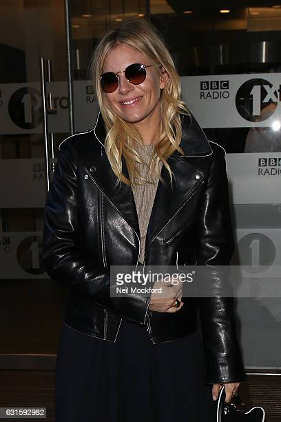 Sienna Miller seen leaving BBC Radio One on January 13 2017 in London England