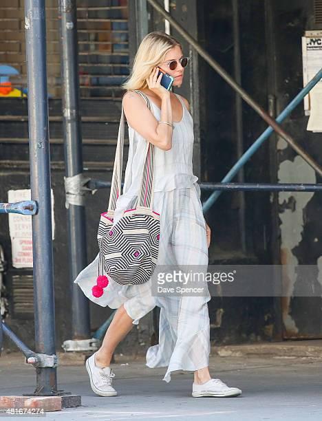 Sienna Miller seen walking around in Soho on July 22 2015 in New York City