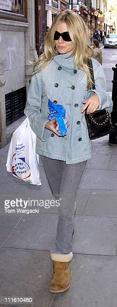 Sienna Miller shopping before her last performance of play As You Like It