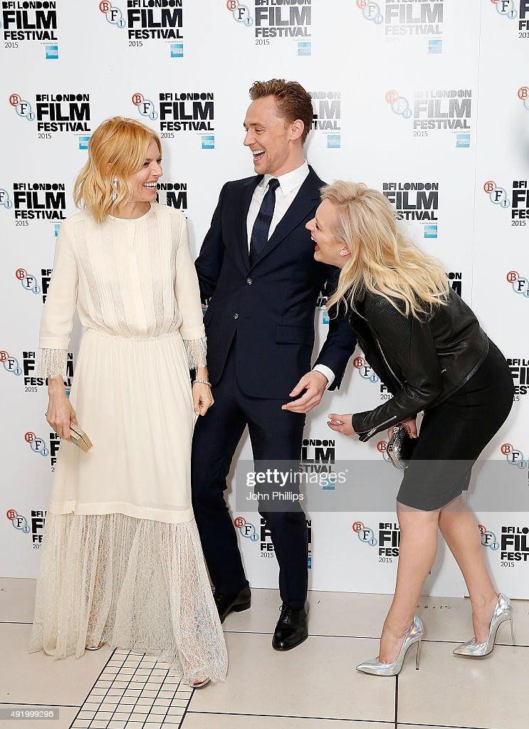 Sienna Miller, Tom Hiddleston and Elisabeth Moss attend the High-Rise Screening, during the BFI London Film Festival, at Odeon Leicester Square on October 9, 2015 in London, England.