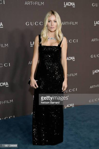 Sienna Miller wearing Gucci attends the 2019 LACMA Art Film Gala Presented By Gucci at LACMA on November 02 2019 in Los Angeles California