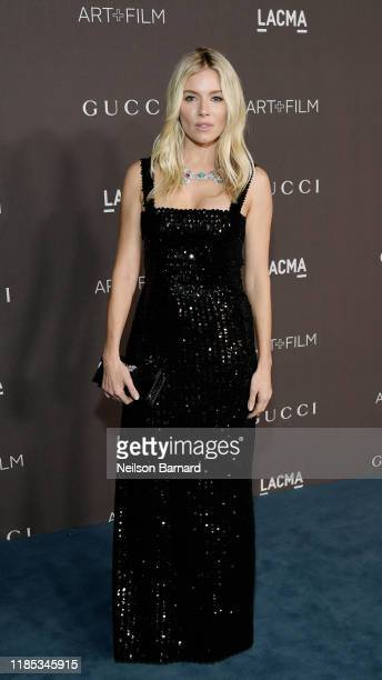 Sienna Miller, wearing Gucci, attends the 2019 LACMA Art + Film Gala Presented By Gucci at LACMA on November 02, 2019 in Los Angeles, California.