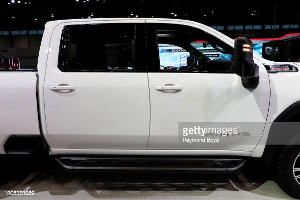 Sierra AT4 HD is on display at the 112th Annual Chicago Auto Show at McCormick Place in Chicago, Illinois on February 6, 2020.