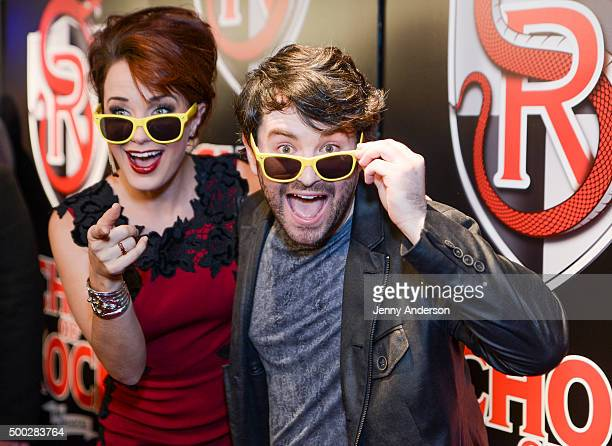 Sierra Boggess and Alex Brightman attend School Of Rock Broadway Opening Night at Hard Rock Cafe New York on December 6 2015 in New York City
