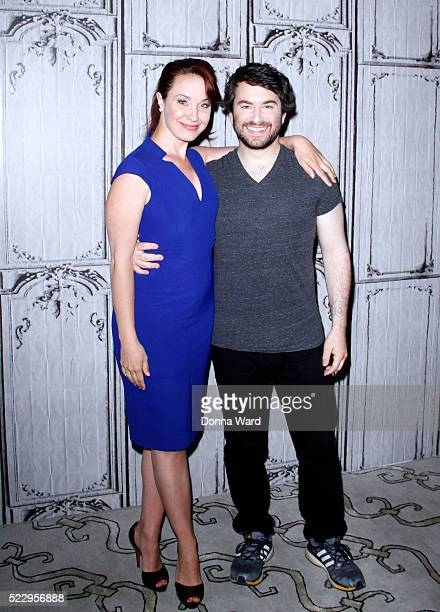 Sierra Boggess and Alex Brightman discuss School of Rock during the AOL BUILD Series at AOL Studios In New York on April 21 2016 in New York City