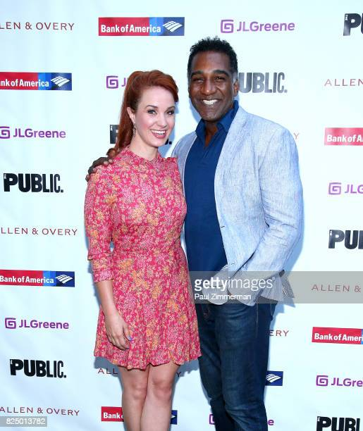 Sierra Boggess and Norm Lewis attend 'A Midsummer Night's Dream' Opening Night at Delacorte Theater on July 31 2017 in New York City