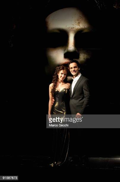 Sierra Boggess and Ramin Karimioo pose at the photocall for Love Never Dies at Her Majesty's Theatre on October 8 2009 in London Love Never Dies is...