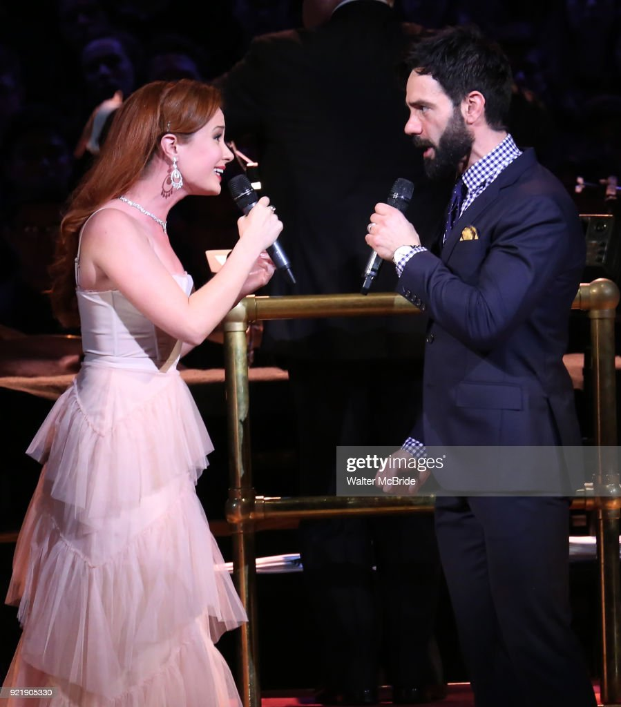 Sierra Boggess and Ramin Karimloo during the Manhattan Concert Productions Broadway Classics in Concert at Carnegie Hall on February 20, 2018 at Carnegie Hall in New York City.