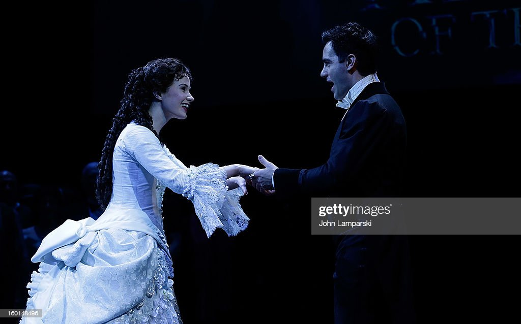 Sierra Boggess performs at 'The Phantom Of The Opera' Broadway 25th Anniversary at Majestic Theatre on January 26, 2013 in New York City.