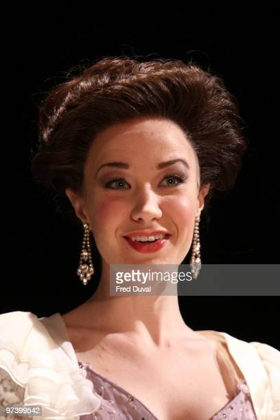 Sierra Boggess performs onstage during the photocall for 'Love Never Dies' at The Adelphi Theatre on March 3 2010 in London England