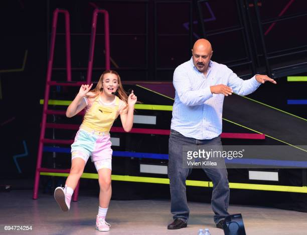 Sierra Brogmus of KIDZ BOP performs during the Dad Dance at The KIDZ BOP Kids 'Best Time Ever' Tour At The Greek Theatre LA on June 10 2017 in Los...