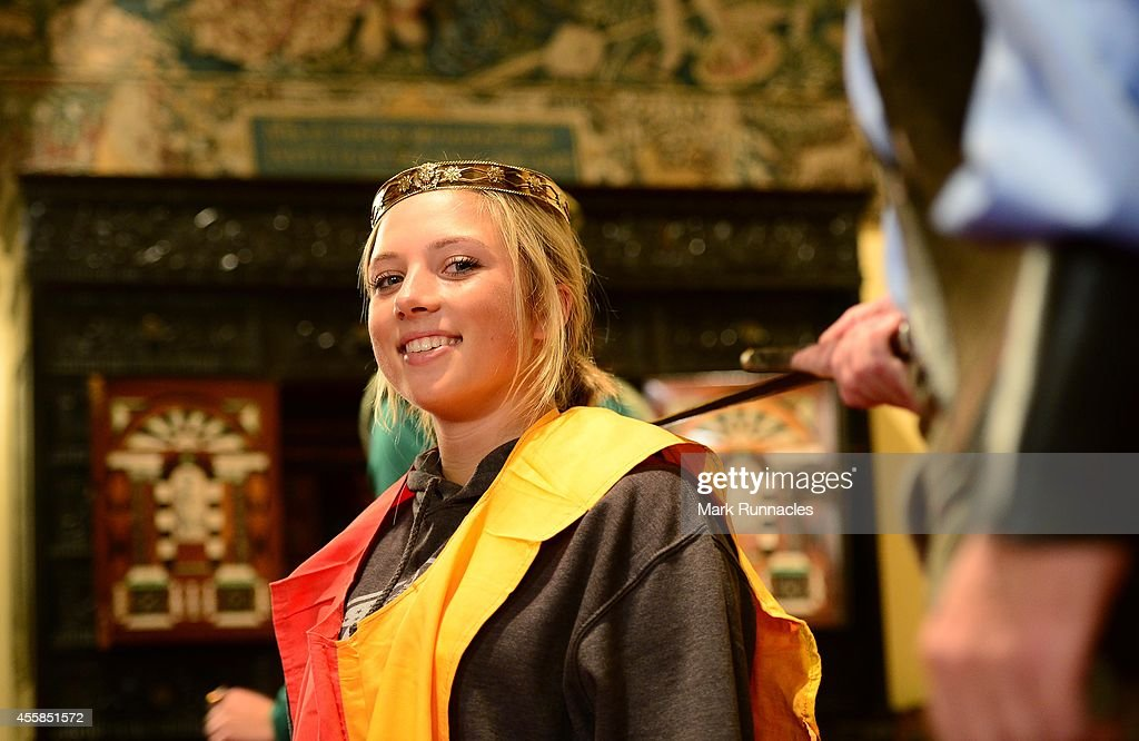 Sierra Brooks of Team USA during a mock Coronation Ceremony as part of a visit to Scone Palace during the 2014 Junior Ryder Cup - Previews on September 21, 2014 in Perth, Scotland.