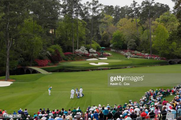 Sierra Brooks of the United States plays her shot form the 12th tee during the final round of the Augusta National Women's Amateur at Augusta...